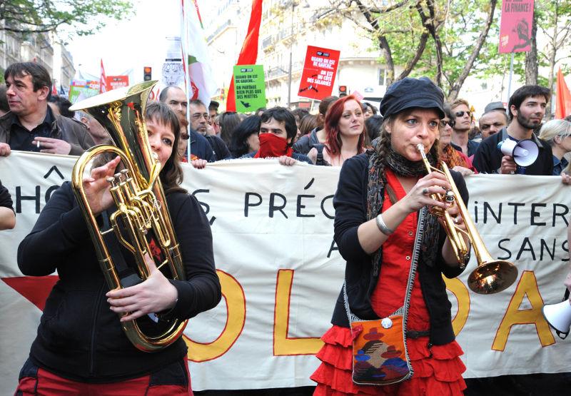 Manifestation unitaire contre l'austérité en 2014 - Cortège des intermittents
